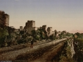 15 the Byzantine wall in Constantinople