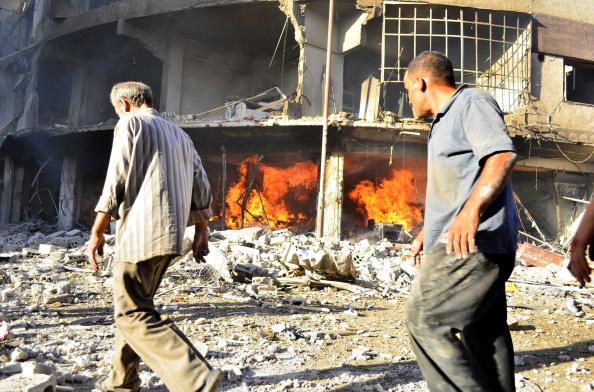 Asad regime forces kill at least 50 in Douma of Syria