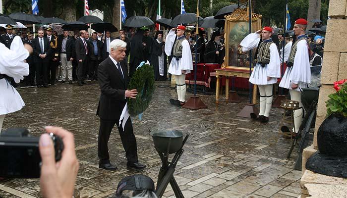 O Πρόεδρος της Δημοκρατίας τιμά το Μεσολόγγι