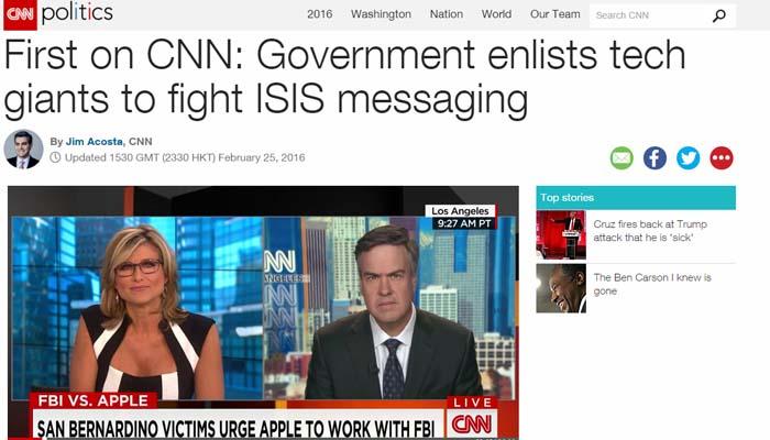 Ξεκινά ψηφιακός πόλεμος των ψηφιακών κολοσσών κατά του ISIS