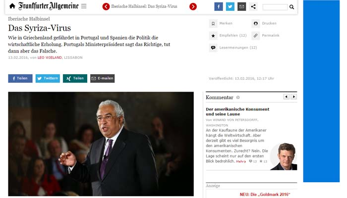 Süddeutsche Zeitung: Σε δεινή θέση η αριστερή κυβέρνηση Τσίπρα από τις ογκώδεις διαδηλώσεις