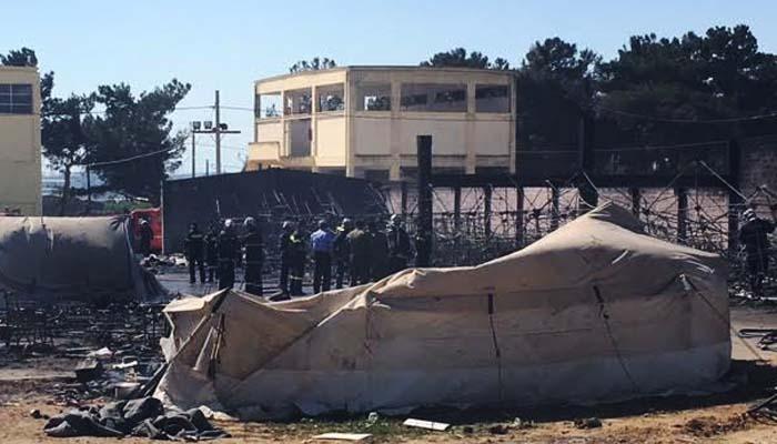 Φωτιά στο στρατόπεδο Αναγνωστοπούλου στα Διαβατά