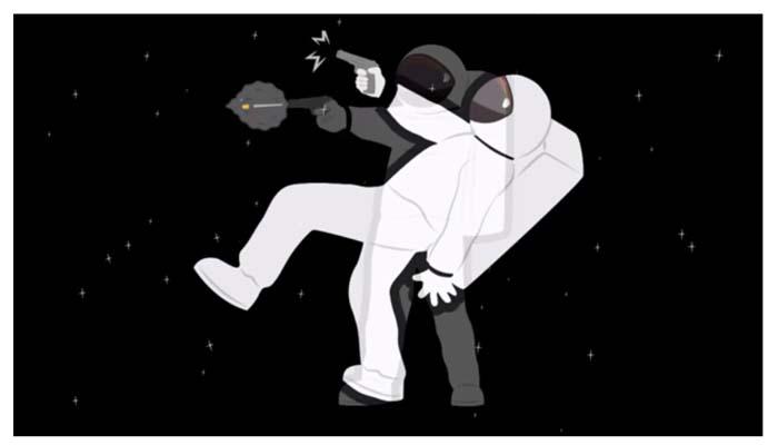 Δείτε τι θα συμβεί αν πυροβολήσετε στο διάστημα
