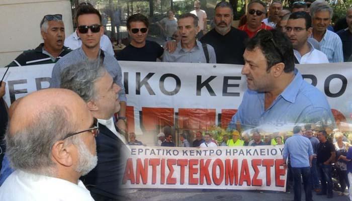 Ηράκλειο Κρήτης: «Θερμή» υποδοχή με αποδοκιμασίες στον Κατρούγκαλο (Video)