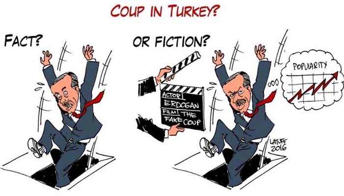 Το σκίτσο του Λατούφ για το πραξικόπημα στην Τουρκία