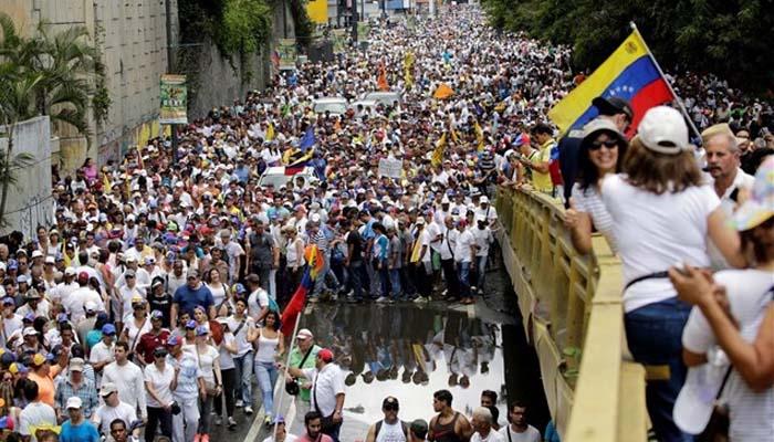 Βενεζουέλα: Ογκώδης διαδήλωση κατά του Μαδούρο