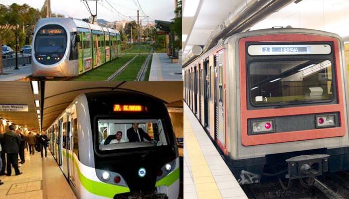 Επαναλαμβανόμενες στάσεις εργασίας σε μετρό, ηλεκτρικό σιδηρόδρομο και τραμ