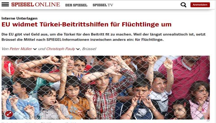 Spiegel: Ούτε ευρώ στην Τουρκία - Τα κονδύλια στους Σύρους πρόσφυγες