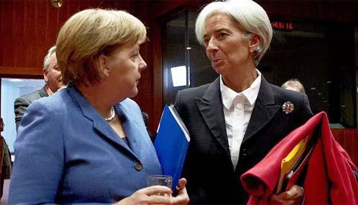 Die Welt: Η Λαγκάρντ δήλωσε στην Μέρκελ ότι το ΔΝΤ μένει στο πρόγραμμα
