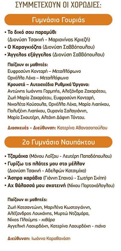 Μεσολόγγι: 4ο Φεστιβάλ Μαθητικών Χορωδιών Ελληνικού Τραγουδιού