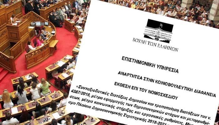 Επιστημονική Υπηρεσία της Βουλής: Αντισυνταγματικός ο μηχανισμός ενεργοποίησης των αντιμέτρων