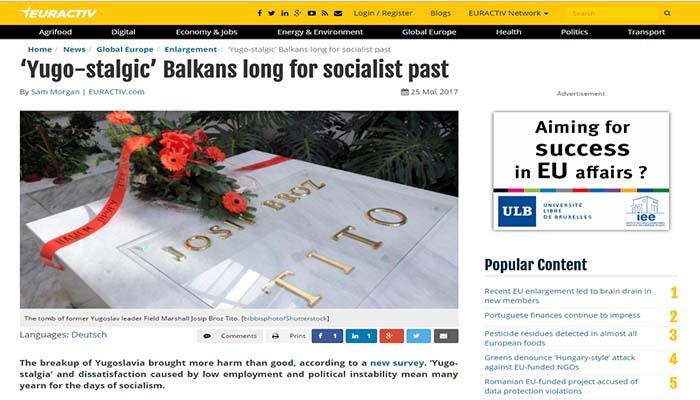 Νοσταλγούν το σοσιαλιστικό τους παρελθόν οι δημοκρατίεςτης πρώην Γιουγκοσλαβίας