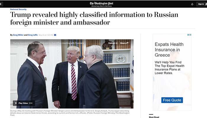 Απίστευτο: Ο Τραμπ παραδέχεται ότι έκανε «διαρροή» πληροφοριών προς τους Ρώσους