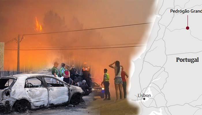 Τραγωδία στην Πορτογαλία: Άνθρωποι κάηκαν ζωντανοί μέσα στα ΙΧ τους από δασική πυρκαγιά