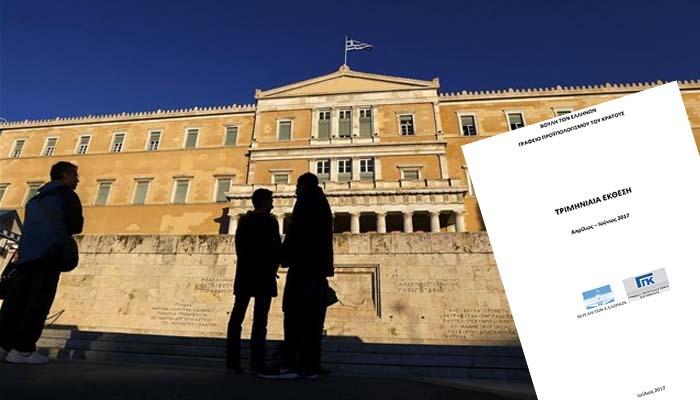 Γραφείο Προϋπολογισμού της Βουλής: Η εποπτεία της Ελλάδας δεν θα τελειώσει το 2018