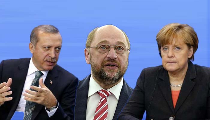 Κοινό μέτωπο Μερκελ-Σούλτς κατά Ερντογάν για τις παρεμβάσεις του στις εκλογές