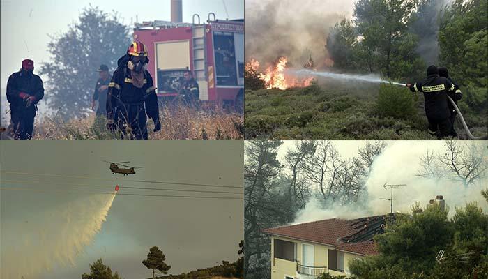 Για δεύτερη μέρα στις φλόγες η Ανατολική Αττική – Δηλώσεις πολιτικών