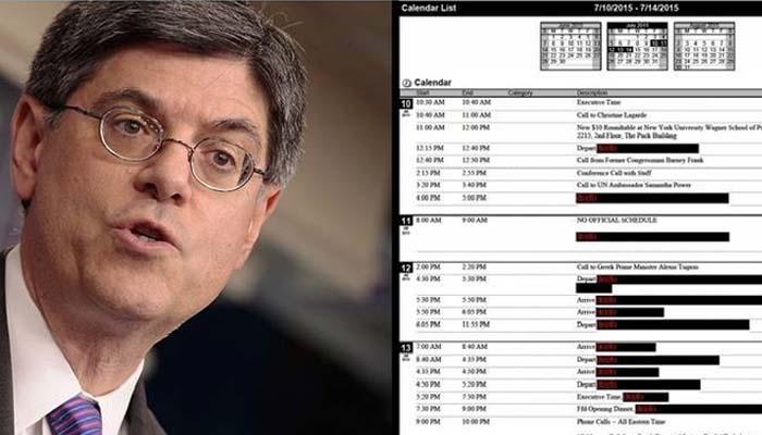 Τι αποκαλύπτουν τα ημερολόγια του Τζακ Λιου για την κρίση του 2015