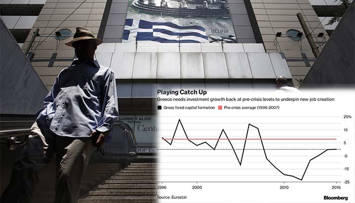 Bloomberg: Οι επενδύσεις είναι το συστατικό που λείπει καθώς η Ελλάδα ξαναχτίζει την οικονομία