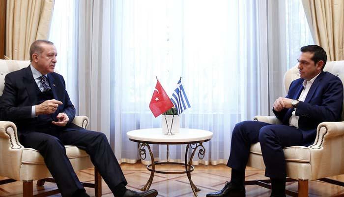 Συνάντηση Τσίπρα Ερντογάν στο Μαξίμου σε ήρεμους τόνους