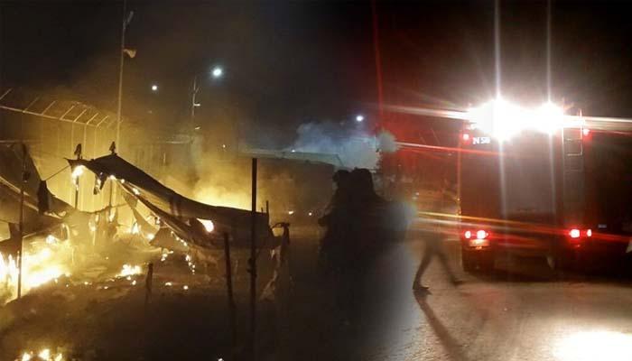 Επεισοδιακή νύχτα στη Μόρια με 14 τραυματίες σε βίαιες συμπλοκές μεταξύ μεταναστών