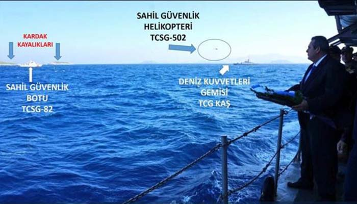 Hurriyet: Η τουρκική ακτοφυλακή εμπόδισε τον Καμμένο στα Ίμια
