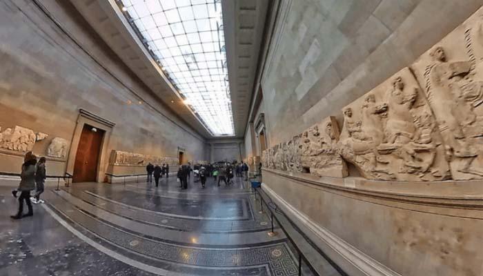 Τα μάρμαρα του Παρθενώνα που είναι στο Βρετανικό μουσείο σε video 360 μοιρών