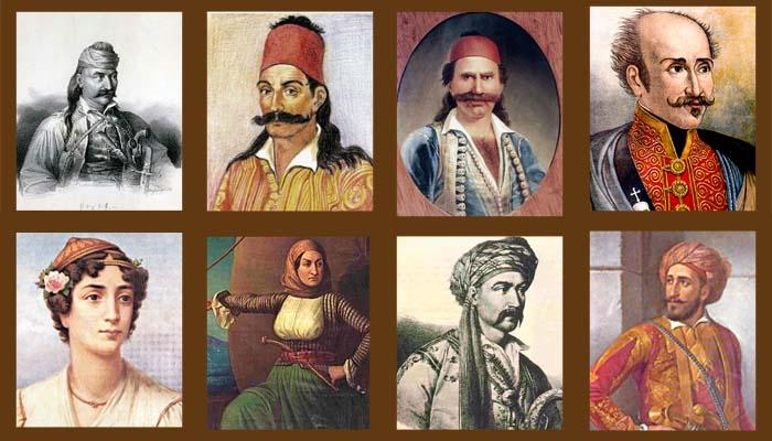 Αποτέλεσμα εικόνας για επανασταση 1821 ηρωεσ