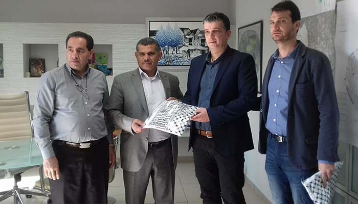 Συνάντηση συνεργασίας των Δημάρχων Βριλησσίων και Beit Ummar Χεβρώνας - Παλαιστίνης