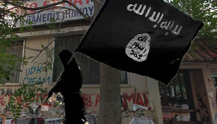 Σημαίες του ISIS, άντρο βίας και ασύμμετρη απειλή κατάληψη στα Εξάρχεια!