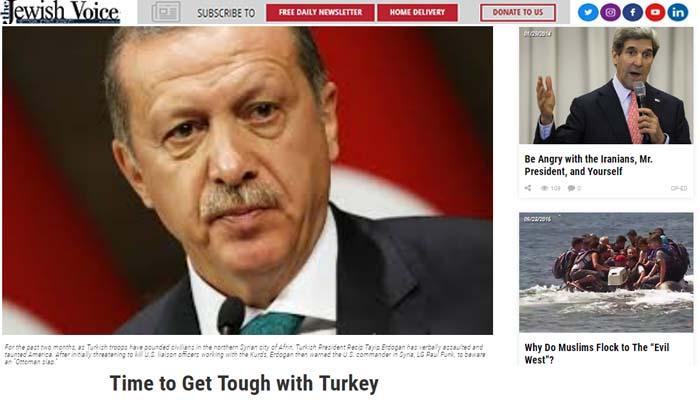 The Jewish Voice: Να τελειώνουμε με τον Ερντογάν και την Τουρκία