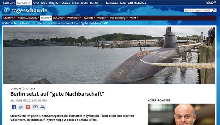Die Linke: Η Τουρκία θα μπορεί να χρησιμοποιήσει γερμανικά υποβρύχια εναντίον Ελλάδας
