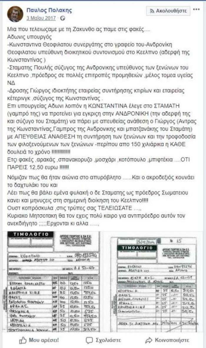 Για συκοφαντική δυσφήμιση μέσω Facebook καταδίκη ο Παύλος Πολάκης