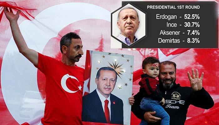 Παντοδύναμος ο Ερντογάν: Νίκη από τον α' γύρο στις προεδρικές –Αυτοδυναμία στην τούρκικη Βουλή