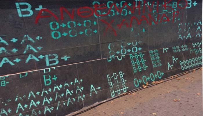 Βανδαλισμοί στην κεντρική πλατεία του Χαλανδρίου