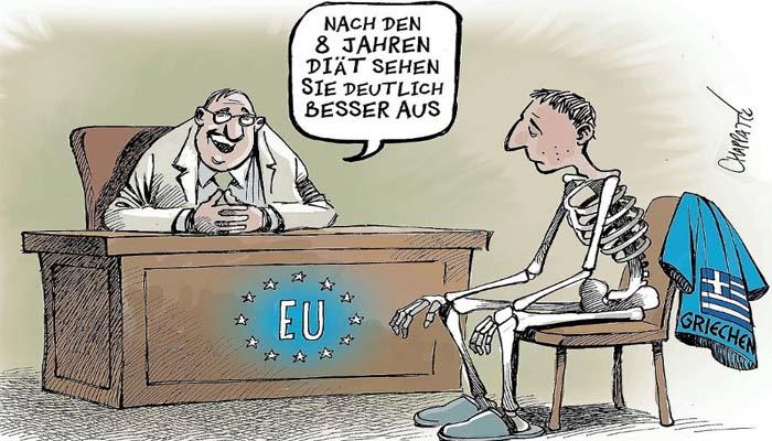 Μας δουλεύουν οι Γερμανοί: Γελοιογραφία του Der Spiegel για το τέλος των ελληνικών προγραμμάτων