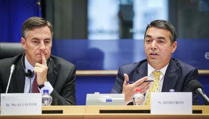 Νικολά Ντιμιτρόφ στην Ευρωβουλή: Η συμφωνία των Πρεσπών αποτελεί «γέφυρα φιλίας» μεταξύ Σκοπίων και Ελλάδας