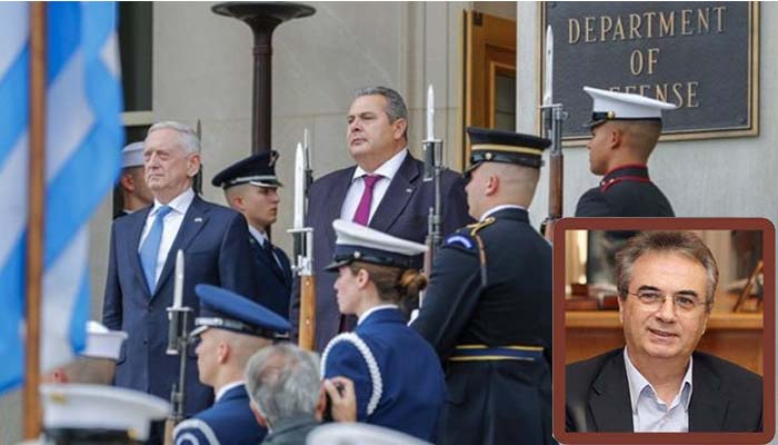 Γιάννης Μαγκριώτης*: Ο Καμμένος στην Ουάσιγκτον με προσωπική στρατηγική για την ασφάλεια της χώρας μοιράζει στρατιωτικές βάσεις και βάζει την χώρα σε κίνδυνο