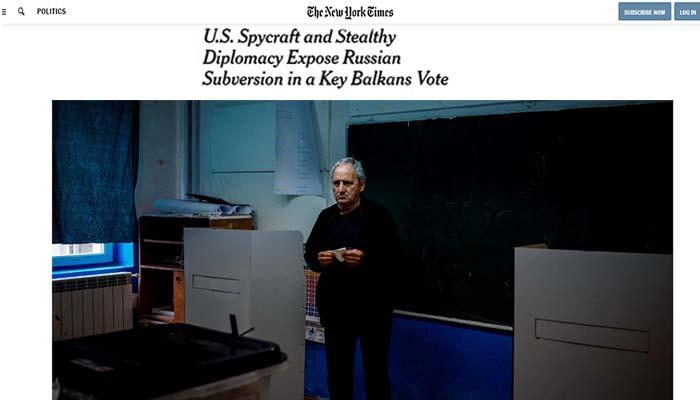 New York Times: «Ρωσική επιχείρηση επηρεασμού» στα Σκόπια μέσω του Ιβάν Σαββίδη του ανθρώπου του Κρεμλίνου