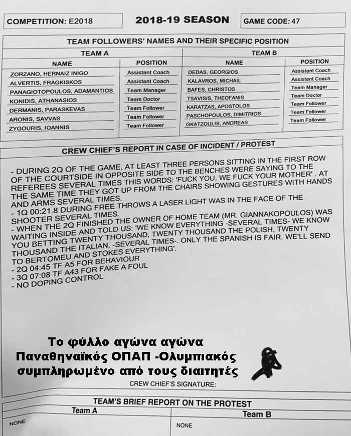 Ξεκινά η Euroleague πειθαρχική διαδικασία για Παναθηναϊκό λόγω επίθεσης Γιαννακόπουλου στους διαιτητές