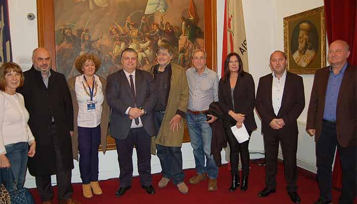 Tα μέλη της Ένωσης Ευρωπαίων Δημοσιογράφων στο Μεσολόγγι