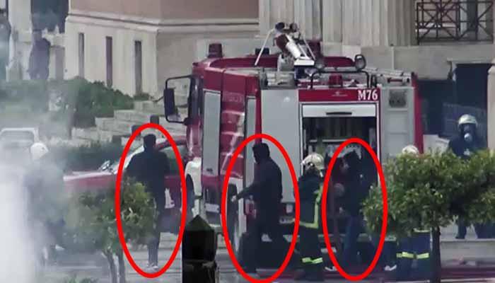 Βίντεο-ντοκουμέντο με κουκουλοφόρους να βγαίνουν από τη Βουλή – Ποίοι είναι αυτοί;