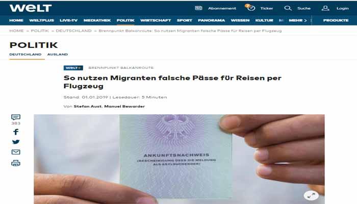 Die Welt: Έτσι διακινούνται από ελληνικά και τούρκικα αεροδρόμια πρόσφυγες με πλαστά έγγραφα
