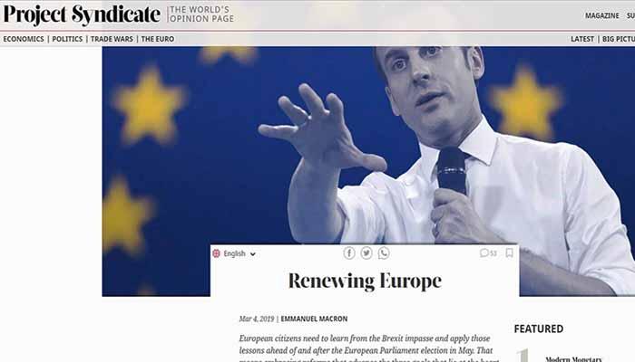 Άρθρο Εμμανουέλ Μακρόν ενόψει ευρωεκλογών -Τι γράφει στο μανιφέστο του