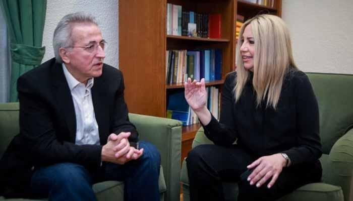 Συνάντηση Φώφης Γεννηματά με Γιάννη Παναγόπουλο, μετά την ματαίωση του Συνεδρίου της ΓΣΕΕ