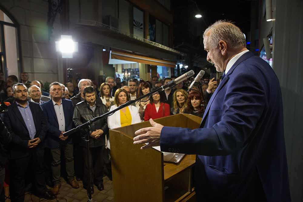 Ο υπ. Δήμαρχος Ι.Π. Μεσολογγίου Κώστας Λύρος εγκαινίασε το εκλογικό του κέντρο στο Μεσολόγγι