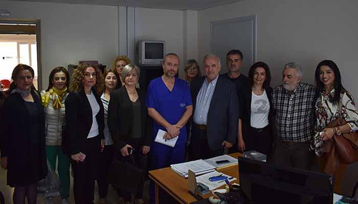 Επίσκεψη στο νοσοκομείο Χατζηκώστα ο Υπ. Δήμαρχος Μεσολογγίου Κ. Λύρος