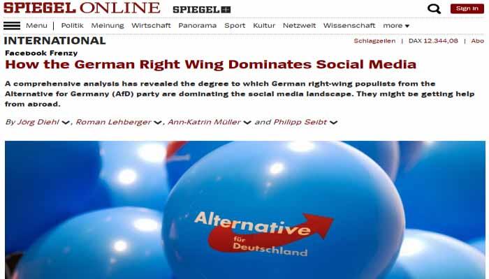 Spiegel Online: Πώς η γερμανική ακροδεξιά κυριαρχεί στα Social Media