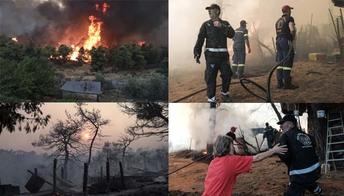 Φωτιά στην Εύβοια: Νέο πύρινο μέτωπο μεταξύ Πλατάνα και Μακρυμάλλης - Ανυπολόγιστη η οικολογική καταστροφή