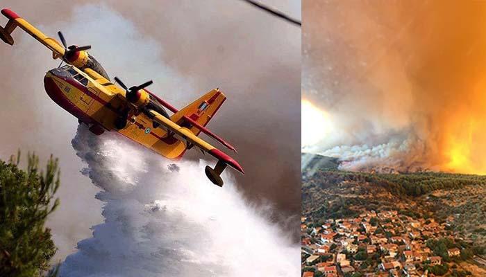 Εύβοια: Συνεχίζεται η μάχη με τις φλόγες - Συνεχείς αναζωπυρώσεις